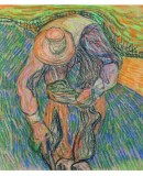 Henry van de Velde, <em>Peasant with Straw Hat</em>, 1890. Drawing - pastel  on paper. ©Private collection