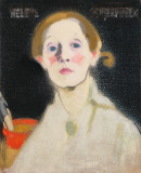 <em>Helene Schjerfbeck, Self-Portrait</em>, Black Background, 1915. Oil on canvas. Herman and Elisabeth Hallonblad Collection. Finnish National Gallery / Ateneum Art Museum; photo: Finnish National Gallery / Yehia Eweis