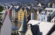 General view of Ålesund's Jugendstil district