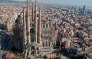 Antoni Gaudí, 1883-1926. Aerial view of  Sagrada Família Temple