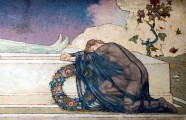 Charles L'Eplattenier, 1912. Death, Pain, Peace. Oil painting