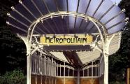 Hector Guimard, 1900. Entrance to metro station at Porte Dauphine