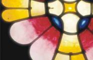Detail of stained glass in the