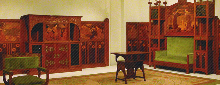 Gaspar Homar, 1905. Furniture designed for Casa Lleó Morera (© Museu Nacional d'Art de Catalunya)